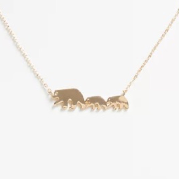 Torrid Gold-Tone Mama and Baby Bear Necklace